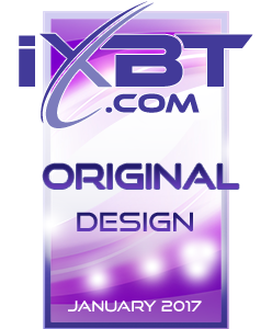 награда за лучший дизайн от портала IXBT.com