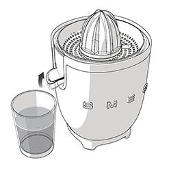 Цитрусовая соковыжималка Смег инструкция